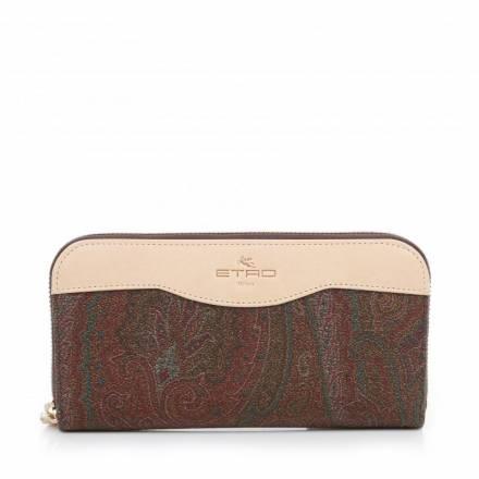 Etro Etro Paisley Wallet Beige/brown Accessoires