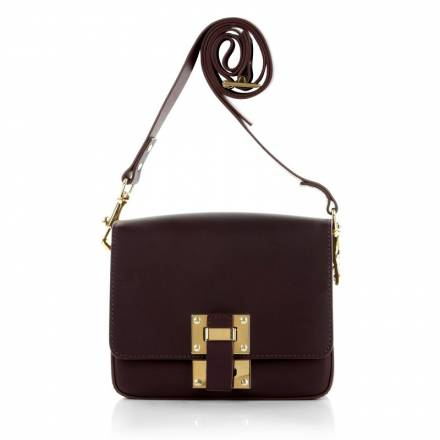 Sophie Hulme Sophie Hulme Box Flap Bag Saddle Leather Oxblood Os Handtaschen