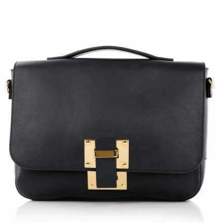 Sophie Hulme Sophie Hulme Soft Flap Bag Black Handtaschen