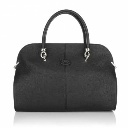 Tods Tods Sella Handlebag Medium Black Grey Handtaschen