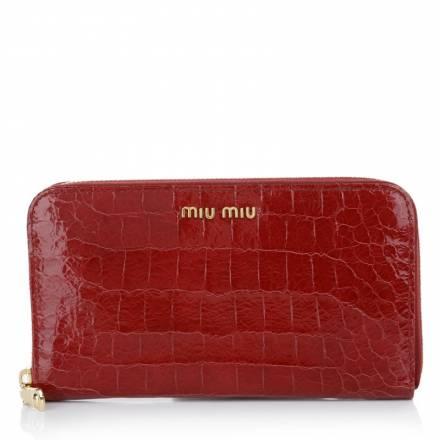 Miu Miu Miu Miu Portafoglio St. Cocco Lux Rubino Accessoires