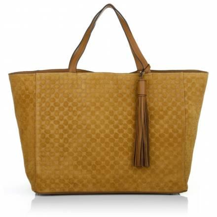 Joop  Joop! Elea Shopper Large Velluto Stampa Camel Handtaschen