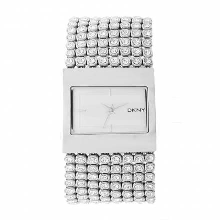 Dkny Dkny Crystal Mesh Watch Silver Schmuck