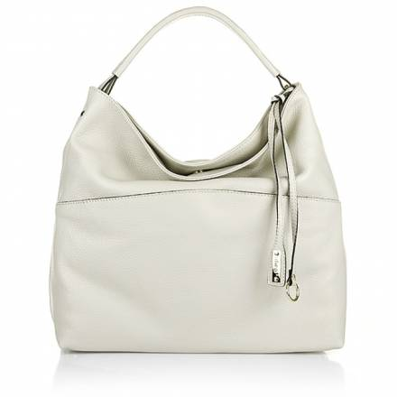 Abro Abro Adria Leather Hobo Bag Beige Handtaschen
