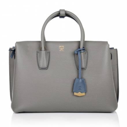 Mcm Mcm Milla Tote Medium Elephant Grey Handtaschen