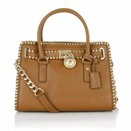 Michael Kors Michael Michael Kors Whipped Hamilton Satchel Luggage/dark Gold Handtaschen