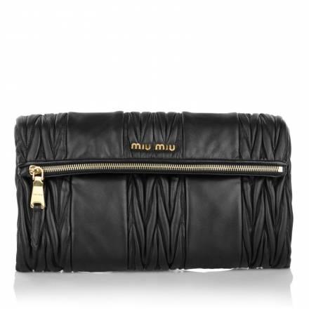Miu Miu Miu Miu Matelassé Pochette Black Handtaschen
