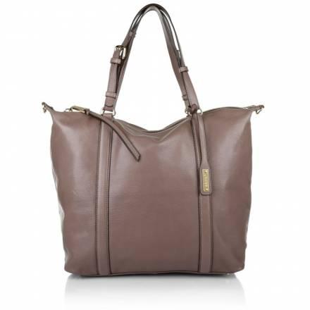 Abro Abro Gibson Leather Handbag Large Rosa Handtaschen