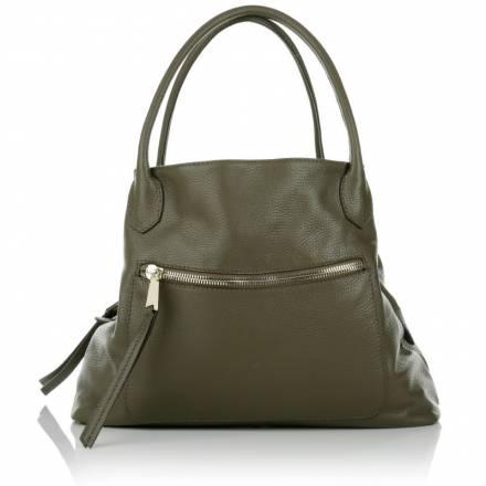 Abro Abro Adria Calf Leather Handbag Oliv Handtaschen