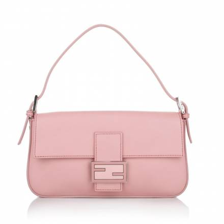 Fendi Fendi Baguette Vitello Pink + Palladio Handtaschen