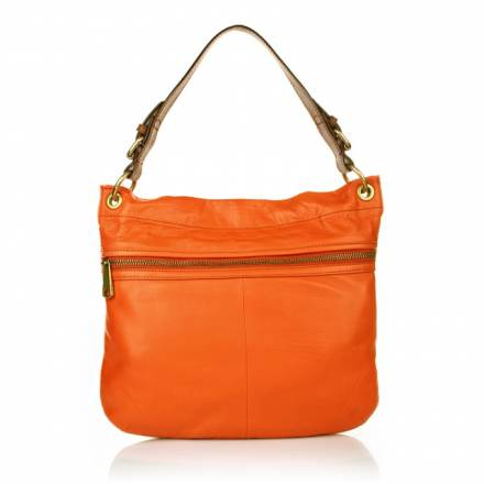 Fossil Fossil Explorer Hobo Bag Bright Orange Handtaschen