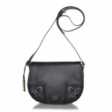 Lauren Ralph Lauren Lauren Ralph Lauren Saddle Bag Buckle Detail Black Handtaschen