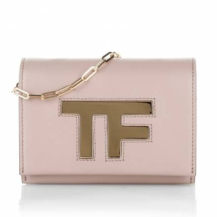 Tom Ford Tom Ford Icon T Crossbody Bag Chain Blush Nude Handtaschen