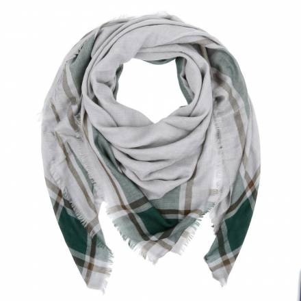Windsor  Windsor. Scarf Plaid Grey/green/brown Accessoires