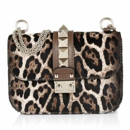 Valentino Valentino Small Lock Fold Over Shoulder Bag Leopard Handtaschen