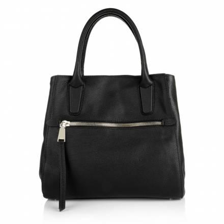Abro Abro Adria Leather Handbag Black/gold Handtaschen