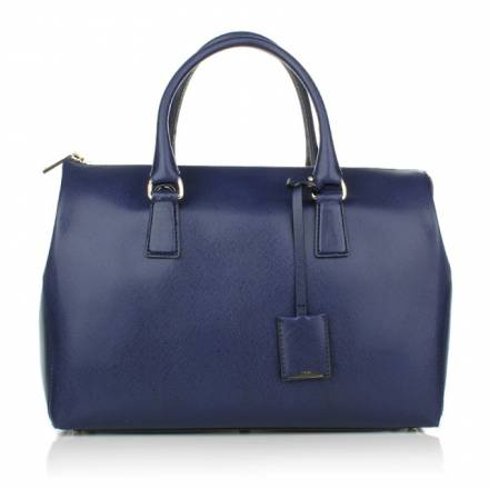 Abro Abro Handbag Saffiano Leather Round Wind Royal Handtaschen