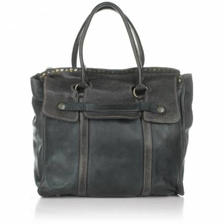 Campomaggi Campomaggi Leather Handbag Grigio Handtaschen