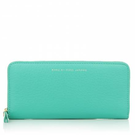 Marc By Marc Jacobs Marc By Marc Jacobs Sophisticato Slim Zip Around Wallet Aqua Lagoon Multi Accessoires