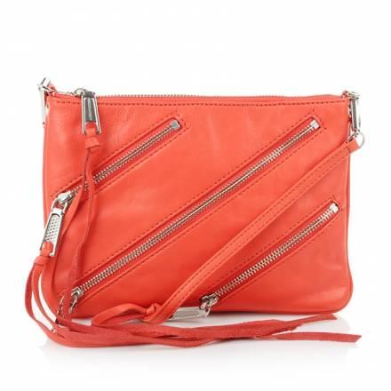 Rebecca Minkoff Rebecca Minkoff Moto Crossbody Blood Orange Handtaschen