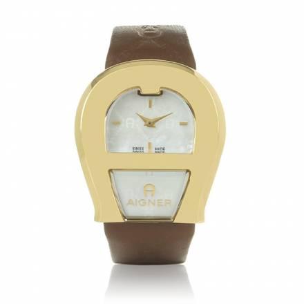 Aigner Aigner Venezia Gold Brown Leather Accessoires