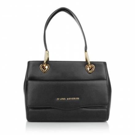 Love Moschino Love Moschino Borsa Vitello Split Nero Handtaschen