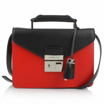 Michael Kors Michael Kors  Brompton Mini Briefcase Scarlet Black Handtaschen