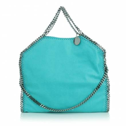 Stella Mccartney Stella Mccartney Falabella Shaggy Deer Fold Over Tote Turquoise Handtaschen
