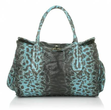 Abro Handbag Leather Sahara Lux Sky