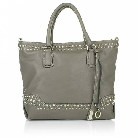 Abro Leather Handbag Cristina Graphite