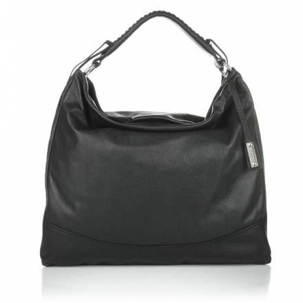 Abro Leather Handbag Braveheart Black