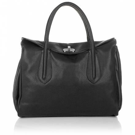 Abro Handbag Leather Braveheart Black