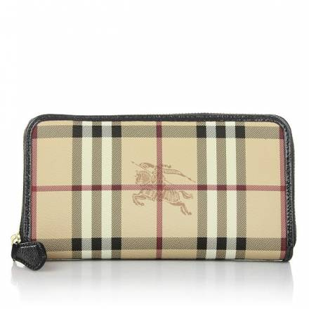 Burberry Large Zip Around Ziggy Wallet Black