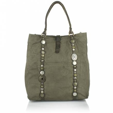 Campomaggi Campomaggi Shopper Fabric Leather Grey Handtaschen