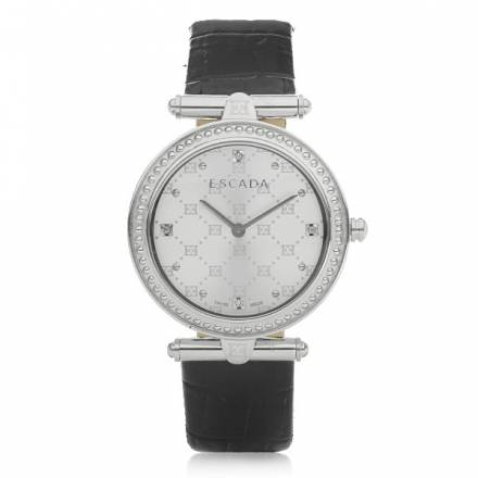 Escada Vanessa Dia Leather Croco Silver/black