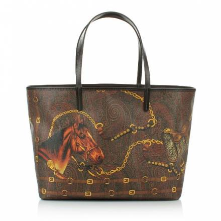 Etro Etro Shopper Bag Medium Brown  Handtaschen
