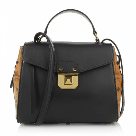 Mcm Mcm Christina Visetos Satchel Small Black Handtaschen