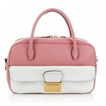 Miu Miu Bauletto Madras Bicolore Pink/white