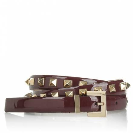 Valentino Valentino Rockstud Belt Purple/bordeaux 85 Cm Accessoires
