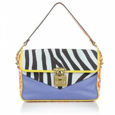 Just Cavalli Just Cavalli Pochette Zebra Python Orange Handtaschen