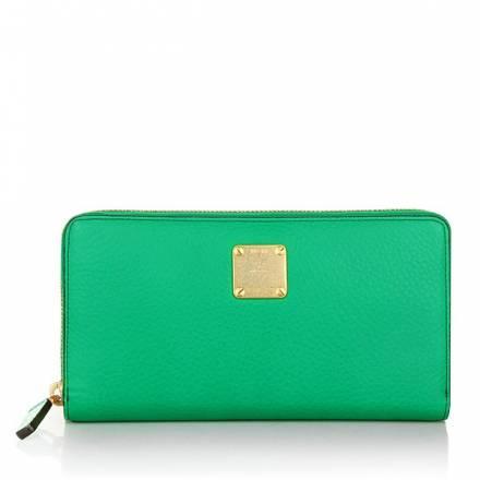 Mcm Lotti Zipped Wallet Large Paradise Green