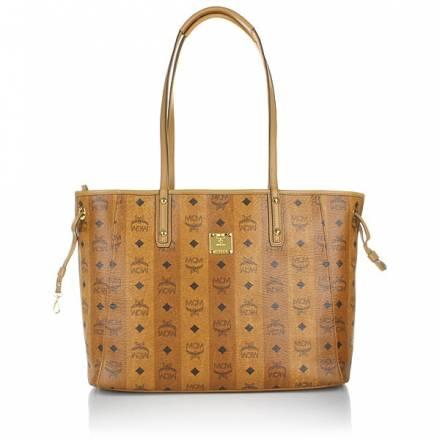 Mcm Mcm Project Vintage Reversible Shopper Medium Cognac Handtaschen