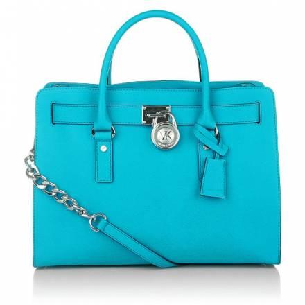Michael Kors Hamilton Lg Ew Tote Summer Blue