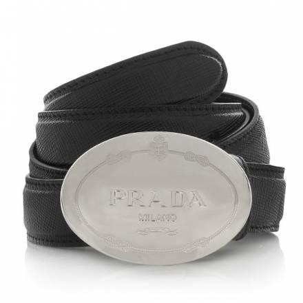 Prada Saffiano Belt Black 85 Cm