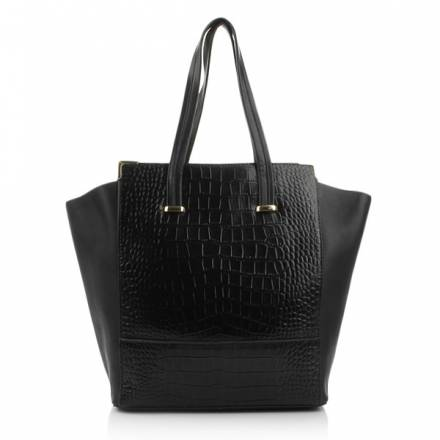 Rachael Ruddick East West Shopper Black Croco