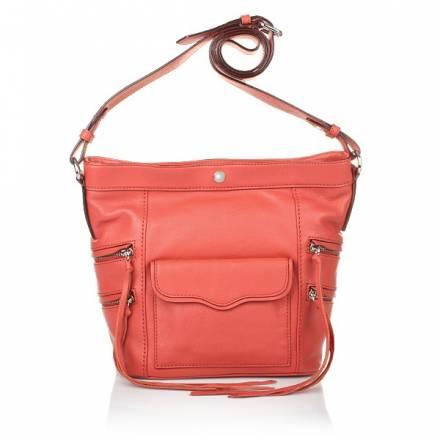 Rebecca Minkoff Dexter Bucket Bag Coral