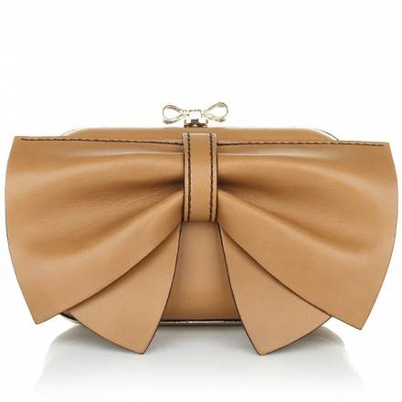 Red Valentino Leather Clutch Noce Bow