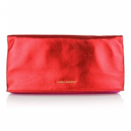 Saint Laurent New Pochette Red Fuxia