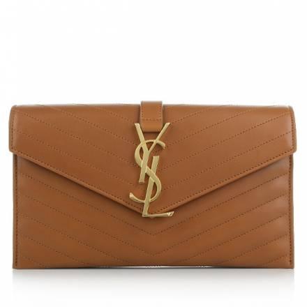 Saint Laurent Ysl Monogramme Bag Tan