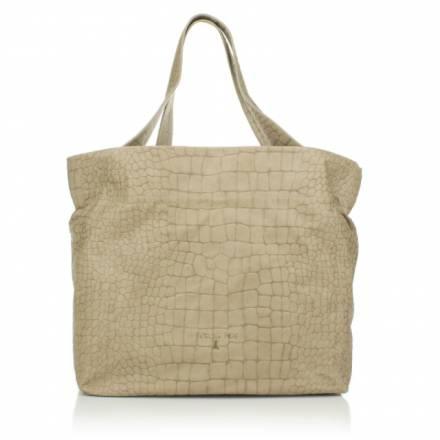 Patrizia Pepe Patrizia Pepe Tophandle Shopper Croco Shifting Beige Handtaschen